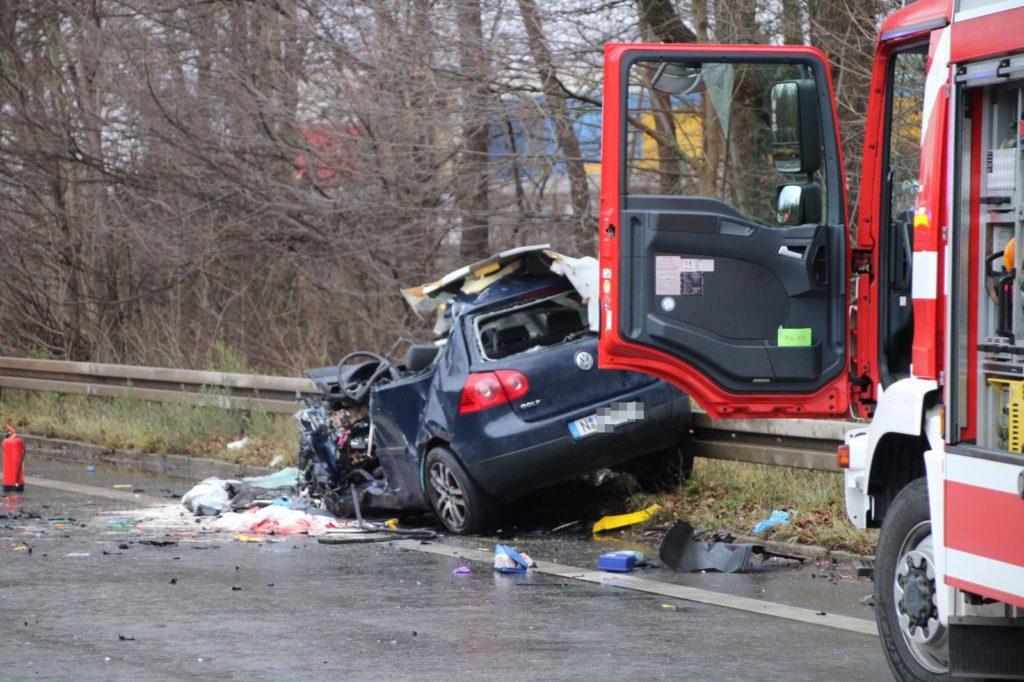 Unfall Frankenschnellweg